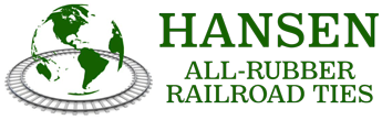 Hansen All-Rubber Railroad Ties
